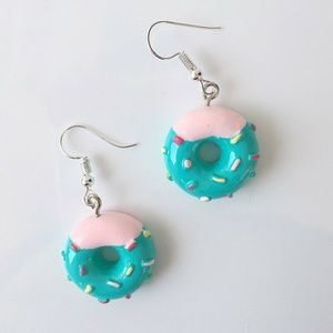 Donuts Cake sweet treat Desert Earrings